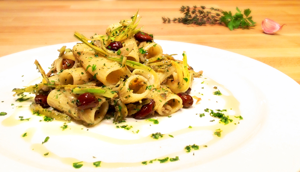 Rigatoni With Artichokes, Garlic, And Olives Recipes — Dishmaps